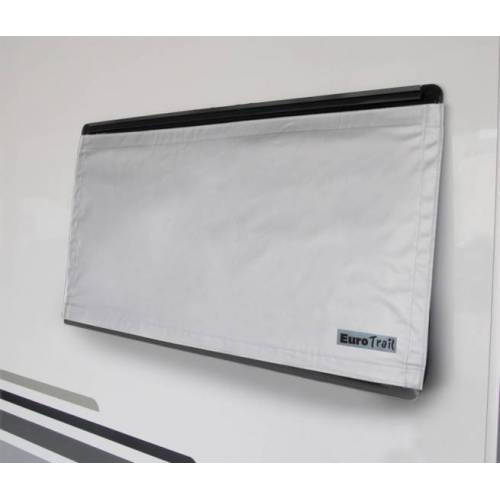 Eurotrail fensterabdeckung 90 x 60 cm Polyester grau