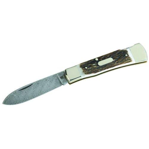Hartkopf taschenmesser 17,5 cm Stahl/Holz silber/hellbraun