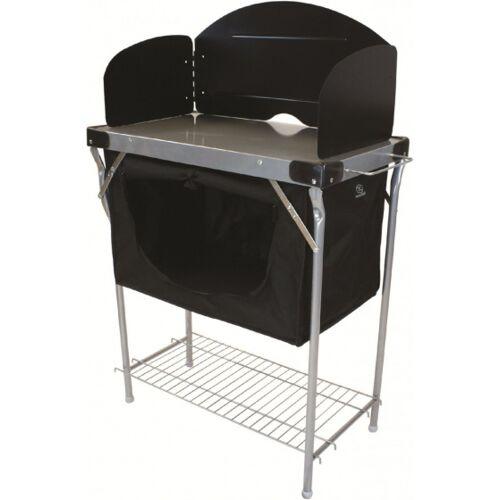 Highlander küchenschrank Camping 111 x 68 cm schwarz/silber