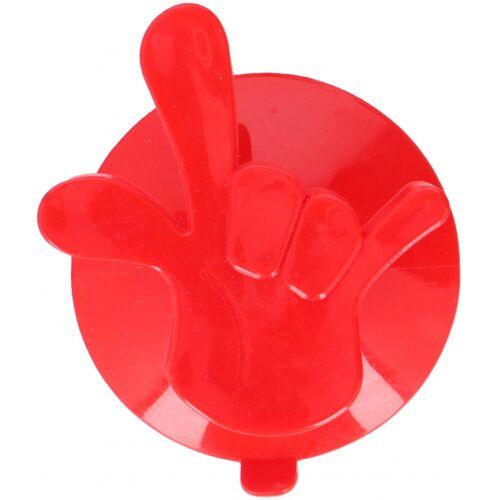 Hooks & Co aufhängehaken Hand 7,5 x 6,5 cm PVC rot