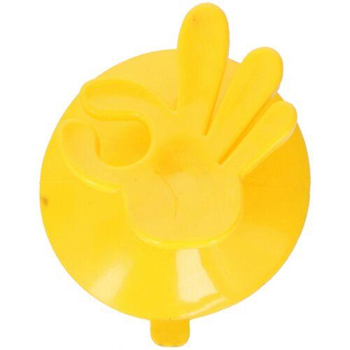 Hooks & Co aufhängehaken OK! 7,5 x 6,5 cm PVC gelb