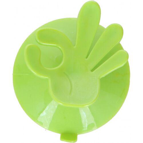 Hooks & Co aufhängehaken OK! 7,5 x 6,5 cm PVC grün