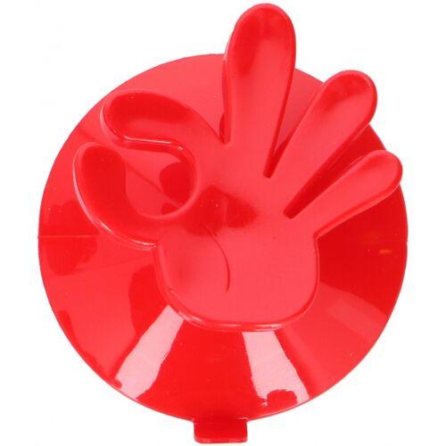 Hooks & Co aufhängehaken OK! 7,5 x 6,5 cm PVC rot