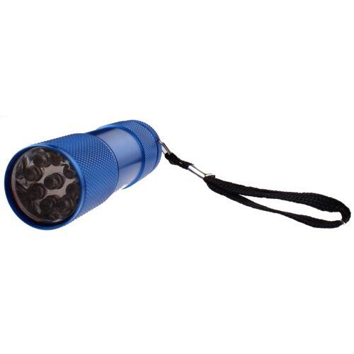 Johntoy taschenlampe led batterie 9 cm blau