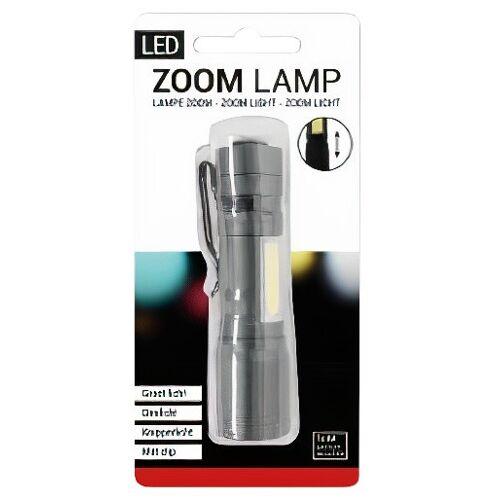 Verhaak taschenlampe led batterie 1 lm stahlgrau