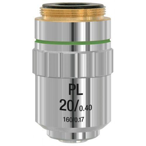 Bresser objektiv DIN PL 20x Mikroskop 2,3 cm Stahl silber