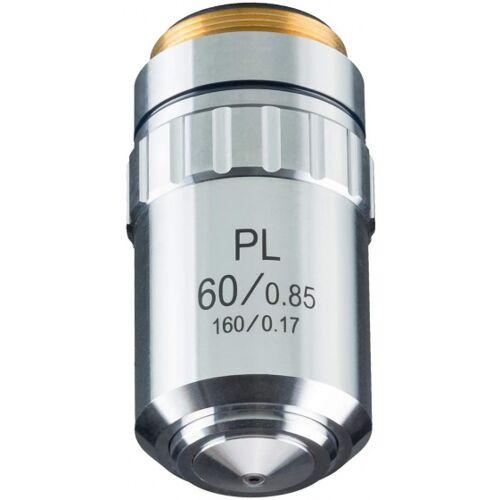 Bresser objektiv DIN PL 60x/0,85 Mikroskop 4,5 cm Stahl silber