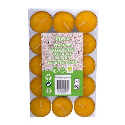 Arti Casa teelichter zitronengelb 15 Stück