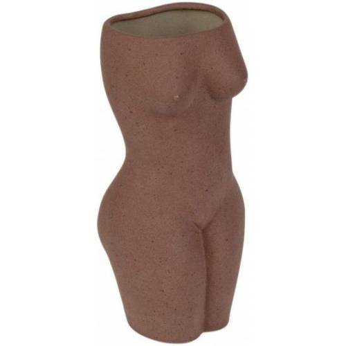 Doiy blumenvase Body 9,2 x 22,5 cm Keramik braun