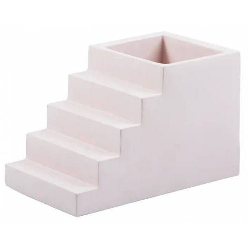 Doiy stifthalter Treppe 7 x 12 cm Beton rosa