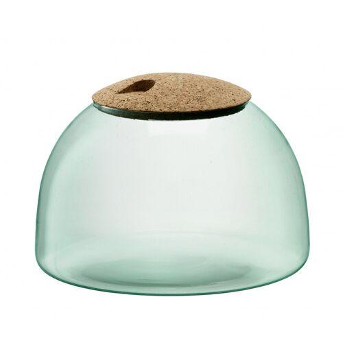 L.S.A. terrarium Vordach geschlossen Garten 24 cm Glas/Kork grün