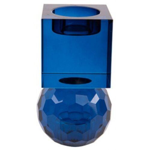 Present Time kerzenständer/Kerzenständer Crystal Art 11,5 cm blau