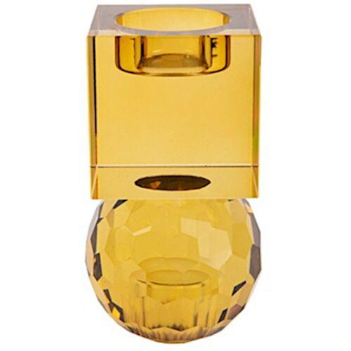 Present Time kerzenständer/Kerzenständer Crystal Art 11,5 cm gelb
