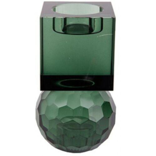 Present Time kerzenständer/Kerzenständer Crystal Art 11,5 cm grün