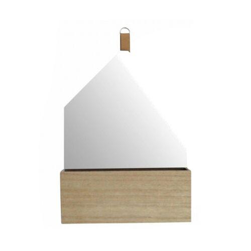 Rox Living spiegel mit fünfeckigem Tablett 30 x 40 cm Holz natur