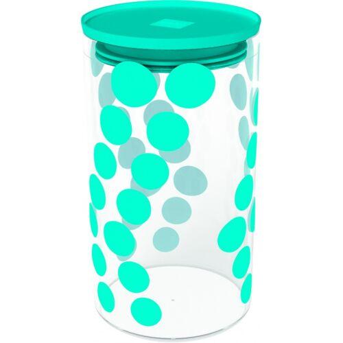 Zak!Designs lagertopf Dot Dot 1,1 Liter Glas/Silikon Aqua