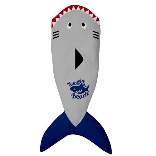 ACHOKA kuscheldecke Kuscheldecke Hai 142 x 55 cm Vlies grau