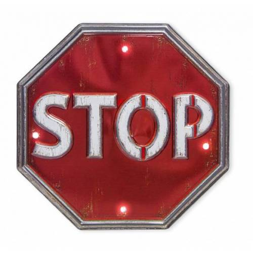 Balvi wanddekoration Stop 29 cm PVC rot/weiß