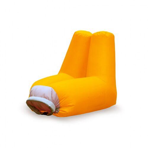 Balvi sitzsack aus aufblasbarem Polyester 82 x 72 cm orange