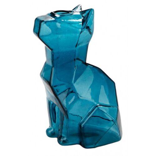 Balvi vase Katze 15 x 8 x 10,5 cm Glas blau