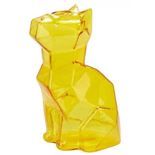 Balvi vase Katze 15 x 8 x 10,5 cm glasgelb