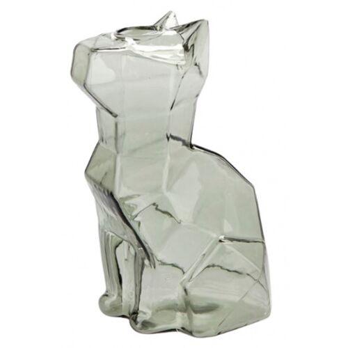 Balvi vase Katze 15 x 8 x 10,5 cm glasgrau