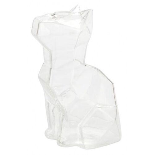 Balvi vase Katze 15 x 8 x 10,5 cm Glas transparent