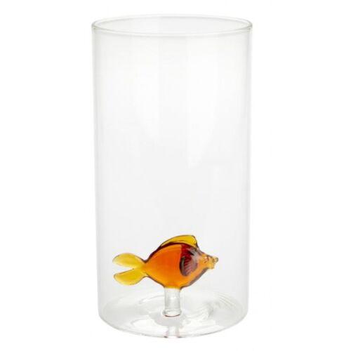 Balvi vase mit Fisch 19 x 10 cm Glas transparent/orange