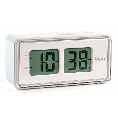 Balvi wecker digital LCD 12,5 cm ABS weiß