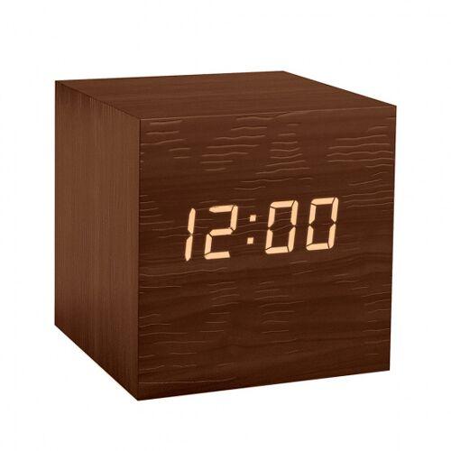 Balvi wecker Cube digital 6,3 cm Holz braun