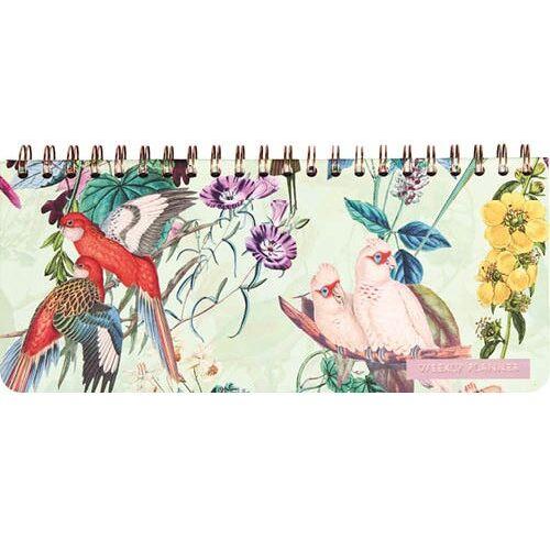 Comello wochenkalender Paradies 12,5 x 29 cm Papier/Stahl mintgrün
