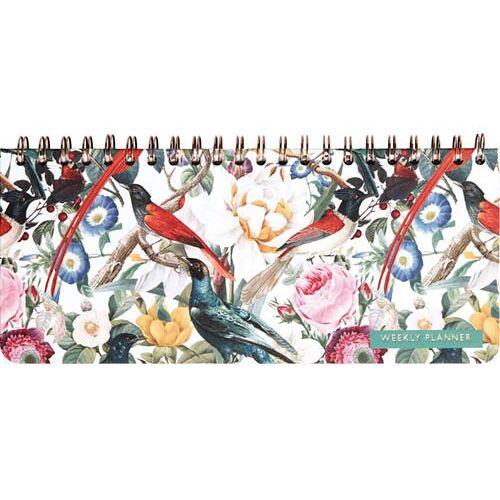 Comello wochenkalender Red Birdies 12,5 x 29 cm Papier/Stahl