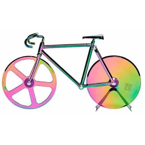 Doiy pizzaschneider Fahrrad 17,5 cm Edelstahl/Zink