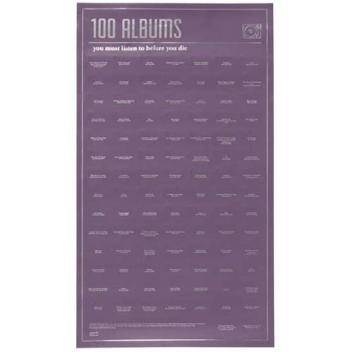 """Doiy abreißplakat """"100 Alben"""" 98 cm Papier violett"""