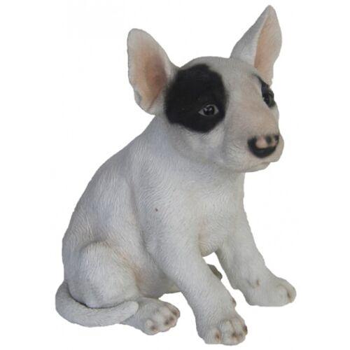 Esschert Design bullterrier Welpe 18 x 16,2 cm Polyresin weiß