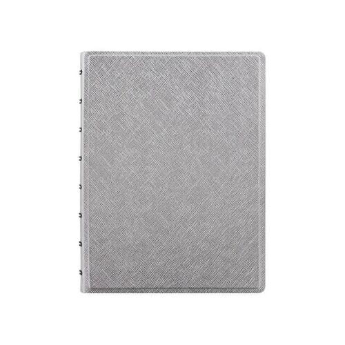 Filofax notizbuch Saffiano A5 21 x 14,8 cm Papier silber
