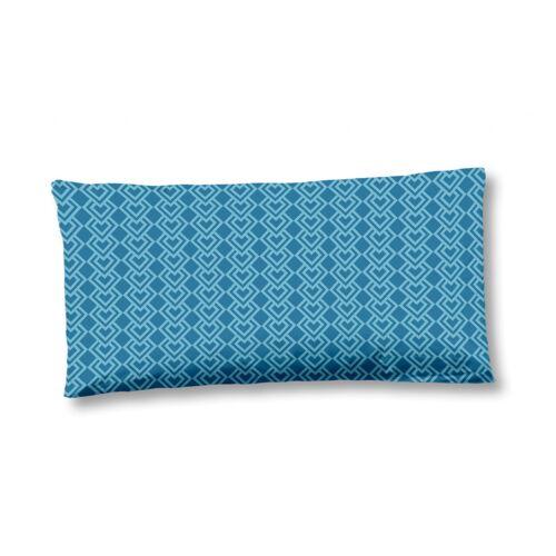 Hip kissenbezug 40 x 80 cm Baumwolle/Satin blau