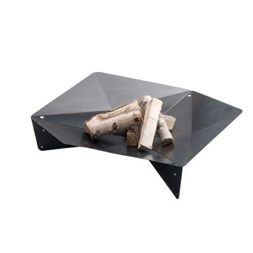 Höfats feuerkorb Triple 120 cm Edelstahl schwarz