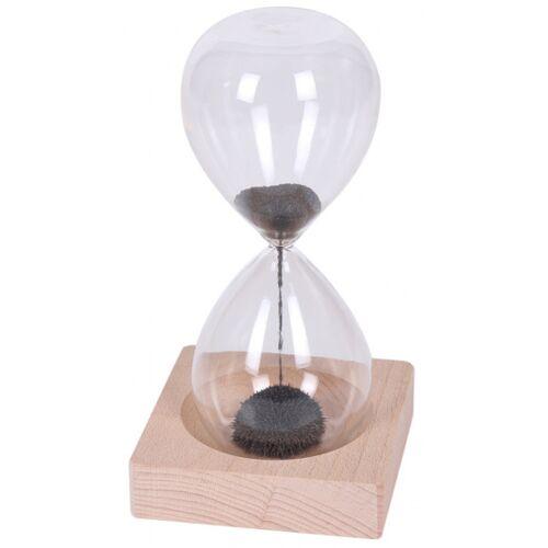 I-Total I Total sanduhr magnetisch 14 x 9 cm Glas/Holz transparent