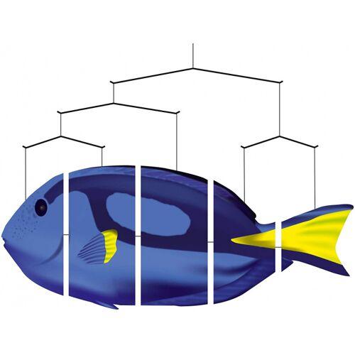 Invento hängedekoration Ozean Mobiler Doktorfisch 80 cm blau/gelb