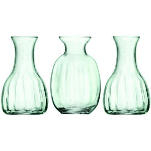 L.S.A. vasen Mia 7,5 x 11 cm recyceltes Glas grün 3 teilig