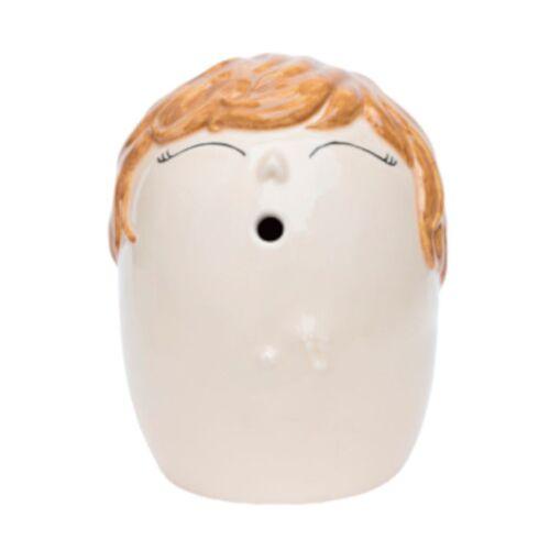 Love Vase vase Erinnerungen blond 16 cm Töpferei weiß