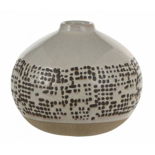 Mica Decorations bono Blumenvase 12,5 x 15,5 cm Keramik braun