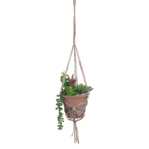 Mica Decorations kunstblume Fettpflanze 16 cm grün