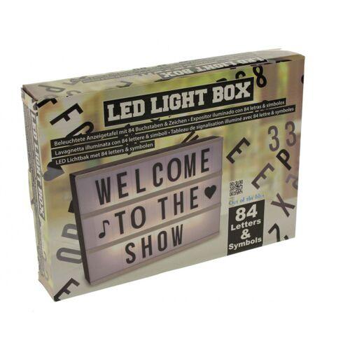 Out of the Blue leuchtkasten LED mit 84 Buchstaben