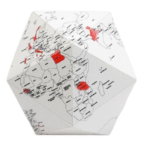 Palomar globus Here By Me 41 cm Papier/Baumwollweiss