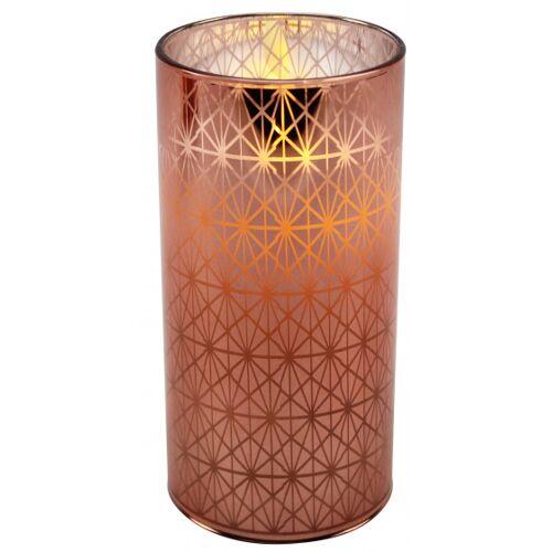 Peha kerze mit LED Licht um 15 cm Wachs/Glaskupfer