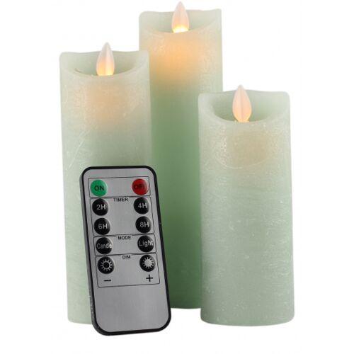 Peha kerzen mit LED Leuchtwachs mintgrün Set 3