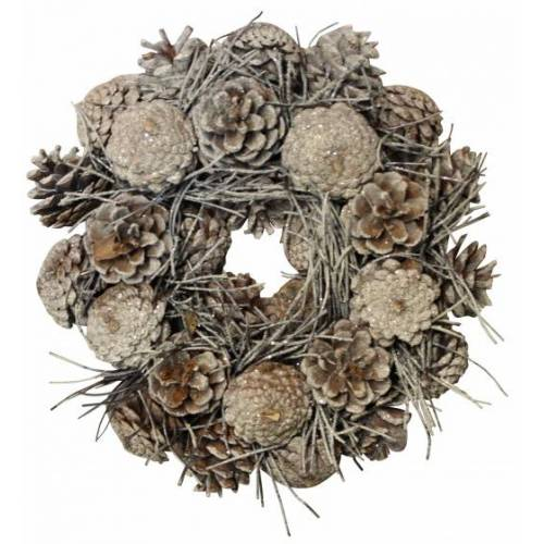 Peha weihnachtskranz Kiefernzapfen 25 cm braun S