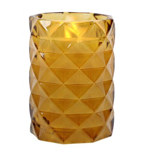 Peha bleikerze im Kerzenhalter 12 cm Wachs/Glas gelb